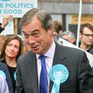 Brexit Party leader Nigel Farage on the campaign trail (Ben Birchall/PA)