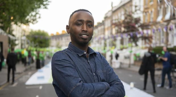 Abdirahman Ibrahim, 31, who survived the Finsbury Park terrorist attack (David Mirzoeff/PA)