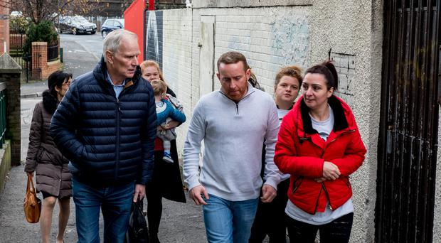 Philip Alston (left), the Special Rapporteur on extreme poverty and human rights, in North Belfast during an official visit to the UK in November 2018 (UN/PA)