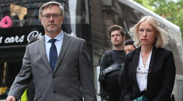 John Letts and Sally Lane arrive at the Old Bailey (Yui Mok/PA)