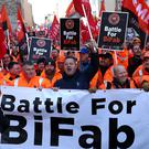 The First Minister said 'Bifab would no longer exist right now but for the action the Scottish Government took' (Andrew Milligan/PA)