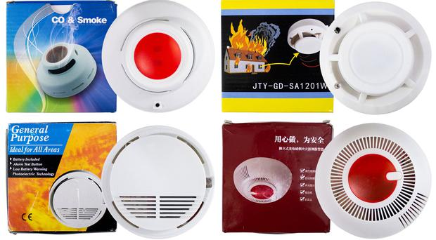 Four smoke alarms widely available online which have failed to work in testing (Which?/PA)