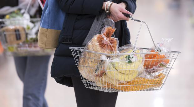 Stock image of shopping in a supermarket (Jon Super/PA Wire)
