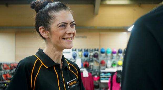 Leigh Bolton, who works as a Halfords cycle technician (Halfords/PA)