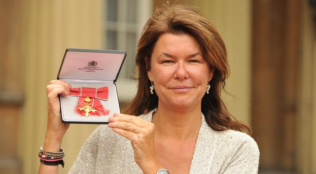 Sky News special correspondent Alex Crawford, pictured with her OBE, and her colleagues were fired at by Syrian regime forces (John Stillwell/PA)