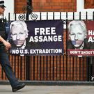 The WikiLeaks founder has been charged in the US (Dominic Lipinski/PA)