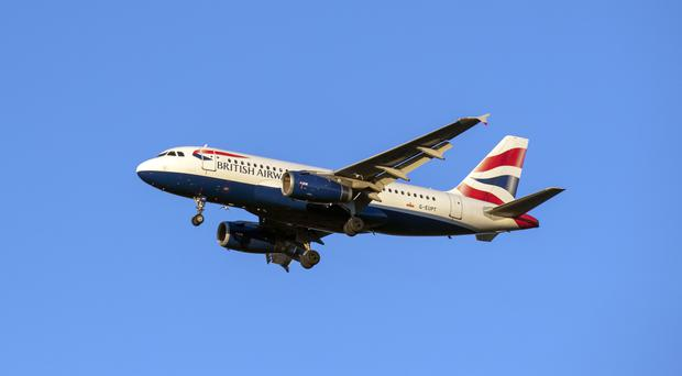 The UK's most congested airspace is over south-east England (Steve Parsons/PA)