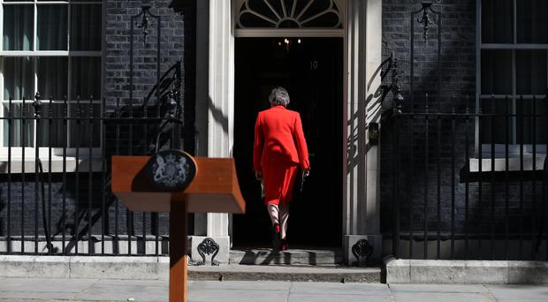 Theresa May leaves after making a statement outside 10 Downing Street (Yui Mok/PA)