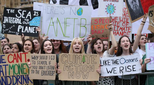 UK students protest over climate change (Yui Mok/PA)