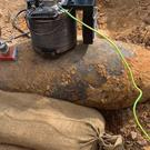 The WWII bomb was discovered in Kingston (Kingston Police/PA)