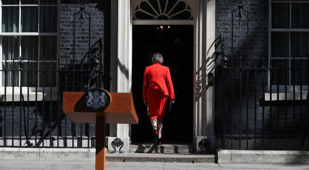 Prime Minister Theresa May announced she was standing down as Tory party leader on Friday June 7 (Yui Mok/PA)