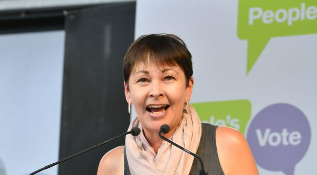 Caroline Lucas hailed the result as part of a 'green wave sweeping across Europe' (John Stillwell/PA).