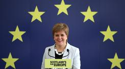 Nicola Sturgeon said the SNP had 'an absolutely fantastic result' in the European elections (PA)