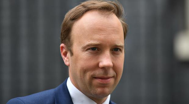 Matt Hancock has attacked Boris Johnson's attitude towards business (Dominic Lipinski/PA)