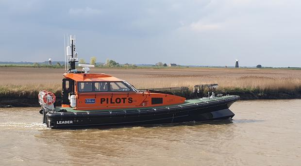 The hybrid pilot boat built for the Port of London Authority by Goodchild Marine Services in Burgh Castle, Norfolk. (Goodchild Marine Services/ PA)