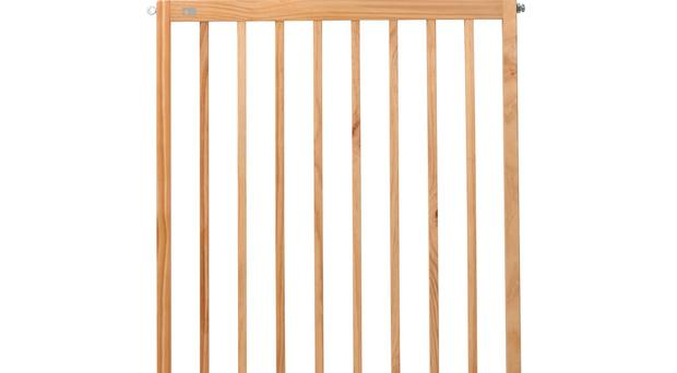 The Mothercare Wooden Wall Fix stair gate (Which?/PA)