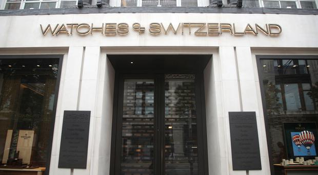 A Watches of Switzerland store on Oxford Street, central London (PA)