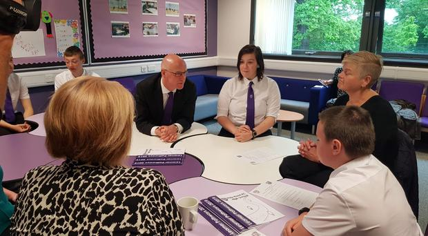 Deputy First Minister and Education Secretary John Swinney has welcomed the results of a survey of headteachers about the Attainment Scotland Fund (Press Association)
