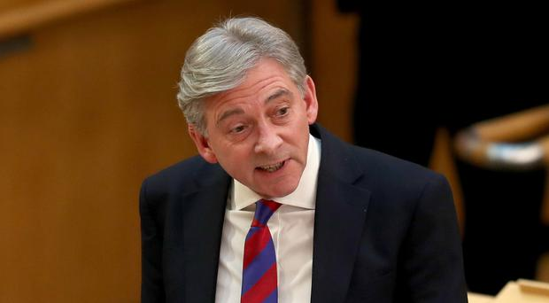 Scottish Labour leader Richard Leonard called for the nationalisation of the Caledonian railway works in Glasgow during First Minister's Questions at the Scottish Parliament in Edinburgh. (Jane Barlow/PA)
