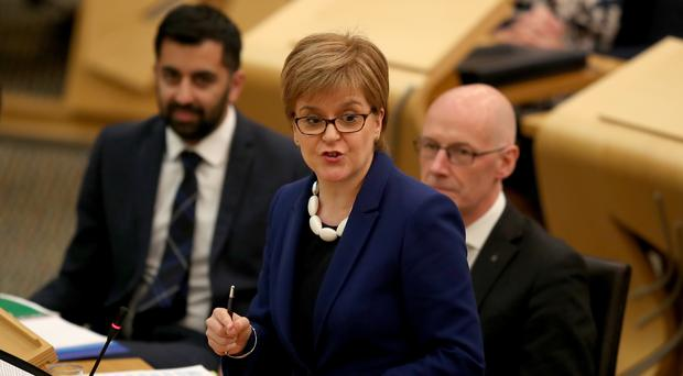 First Minister Nicola Sturgeon has defended her Government's record on tackling hospital waiting times (Jane Barlow/PA)