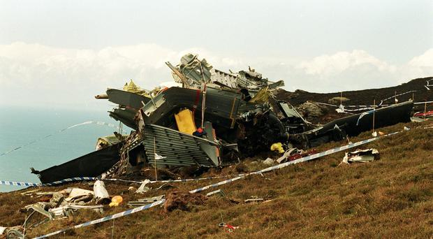 The Chinook helicopter crashed on the Mull of Kintyre in June 1994 (Chris Bacon/PA)