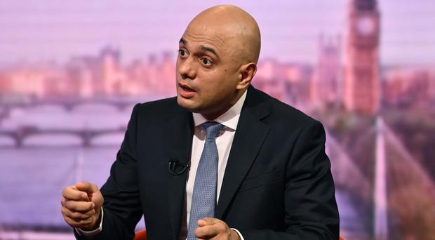 Home Secretary Sajid Javid on The Andrew Marr Show (Jeff Overs/BBC/PA)