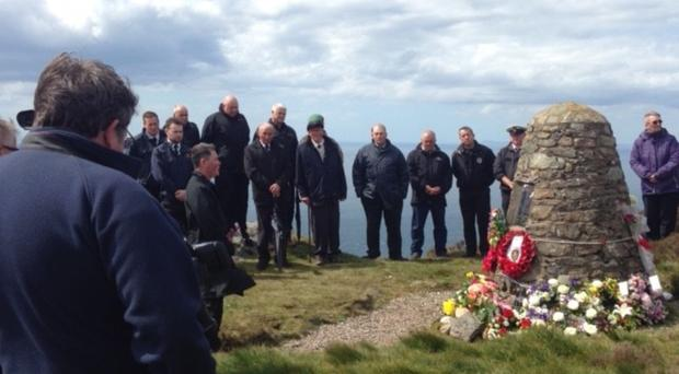 People remember the victims of the Chinook crash (Church of Scotland/PA)