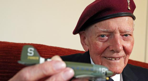 Veteran Harry Read, who is taking part in a parachute drop in Normandy (Steve Parsons/PA)