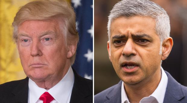 Donald Trump and Sadiq Khan have repeatedly clashed (PA)