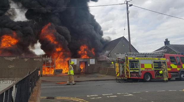 Three fire engines were sent to Newtown Park, home of Bo'ness United (Philip Mearns/PA)