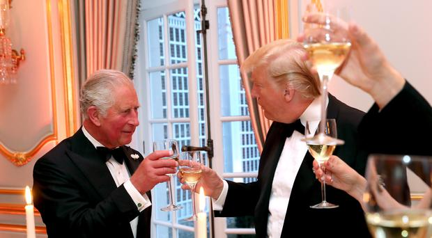Donald Trump and Prince of Wales during the toast at Winfield House (Chris Jackson/PA)