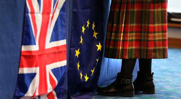 The value of Scottish goods exported to the EU has increased by 18.6% in the last financial year, according to new statistics (Andrew Milligan/PA)