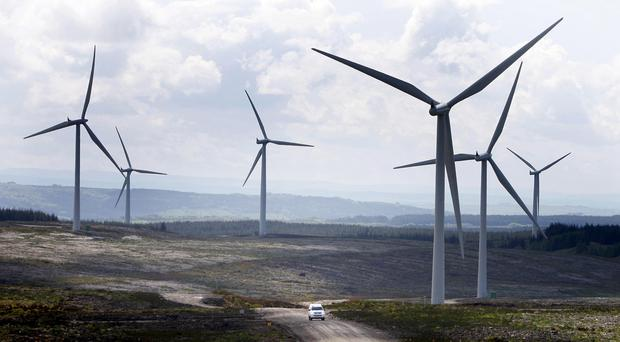Whitelee wind farm on the outskirts of Glasgow was opened a decade ago (Danny Lawson/PA)