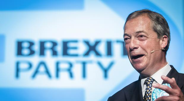 Brexit Party leader Nigel Farage has demanded a role in Brexit negotiations (PA)