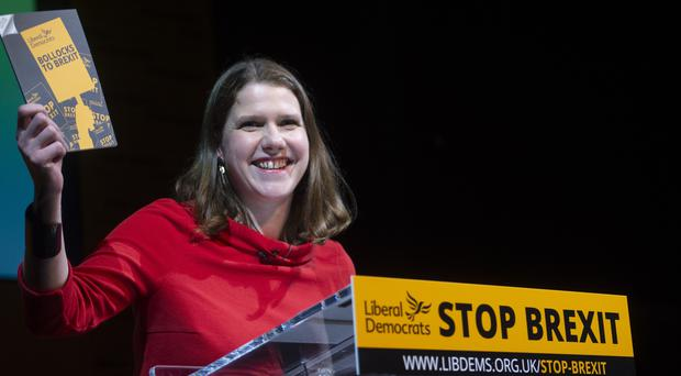 Jo Swinson MP is running for leadership of the party (David Mirzoeff/PA)