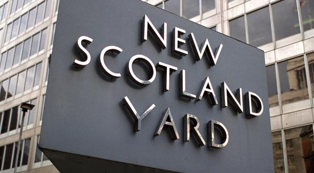 Scotland Yard said four men aged between 15 and 18 were arrested on suspicion of robbery and aggravated GBH (Martin Keene/PA)