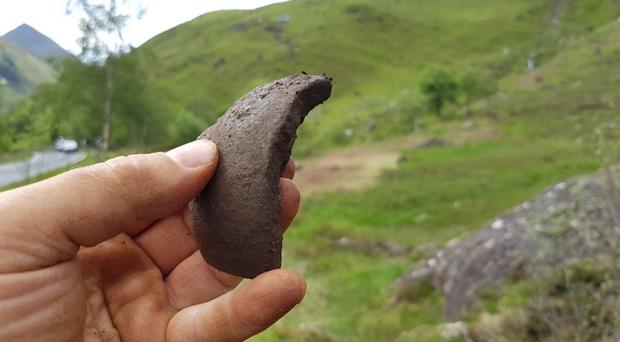 A shell fragment found at the site of the Battle of Glenshiel (NTS)