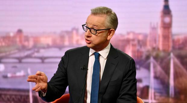 Environment Secretary Michael Gove has faced calls to withdraw from the race (Jeff Overs/BBC/PA)