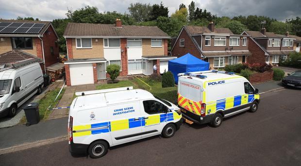 Police at the home of Lucy Letby in Chester (Peter Byrne/PA)