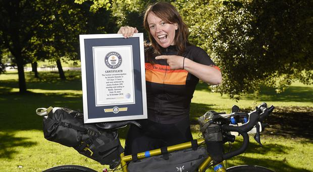 The announcement of Jenny Graham's record celebrates the launch of Guinness World Records Day 2019 (Guinness World Records/PA)