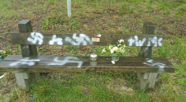 Lincolnshire Police said a number of areas had been vandalised with spray paint (Lincolnshire Police/PA)