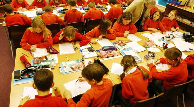 The assessment for primary one pupils has proved divisive (Barry Batchelor/PA)