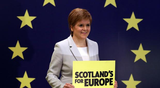 Nicola Sturgeon will visit Brussels on Tuesday (Andrew Milligan/PA)