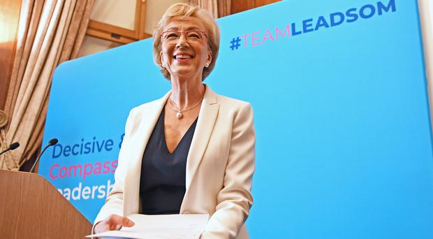 Andrea Leadsom launches her campaign (Stefan Rousseau/PA)