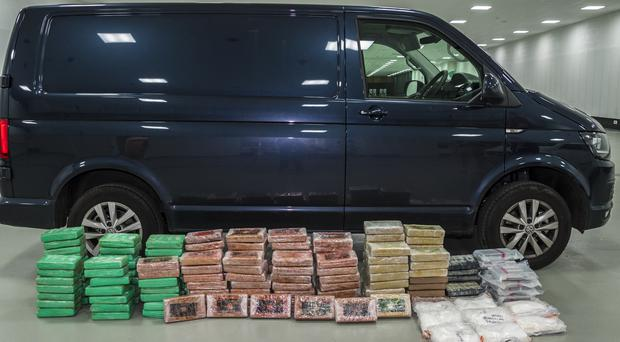 Cocaine seized from a van on the M6 in Cheshire last August (Cheshire Constabulary/PA)