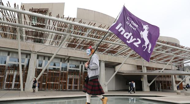 58% of Scots say it should be Holyrood and not Westminster that has the final say in deciding if there is a second independence vote (Andrew Milligan/PA)
