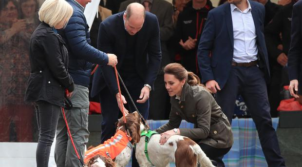 William and Kate in Keswick (Peter Byrne/PA)