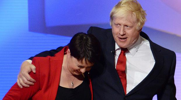 Scottish Conservative leader Ruth Davidson has been urged to instruct her MPs to block Boris Johnson's tax plans (Stefan Rousseau/PA)