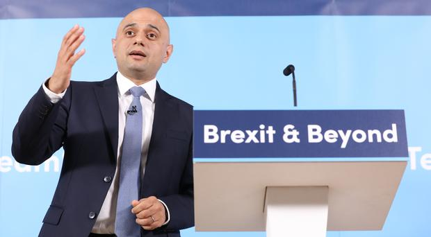 Sajid Javid launches his campaign to become leader of the Conservative Party (Rick Findler/PA)