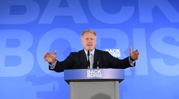 Boris Johnson launches his campaign to become leader of the Conservative Party (Stefan Rousseau/PA)